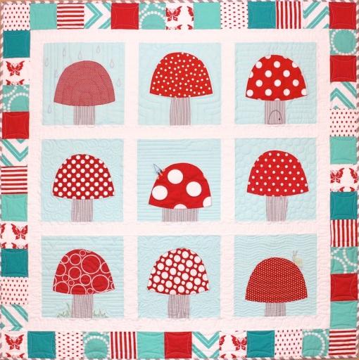 toadstool garden quilt